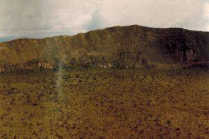 Uitzicht op de krater