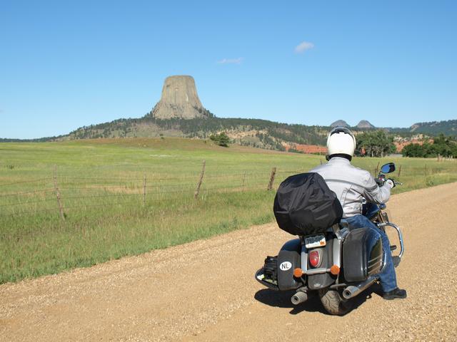 Onderweg naar Devil's Tower, Wyoming