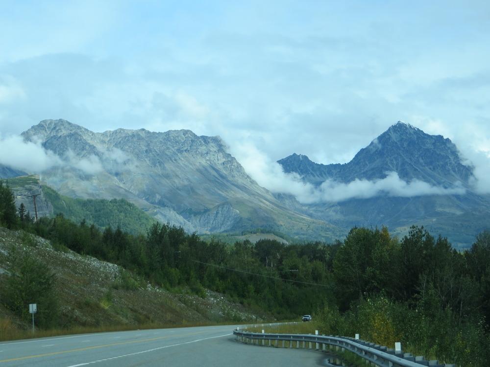 De weg naar Anchorage Alaska