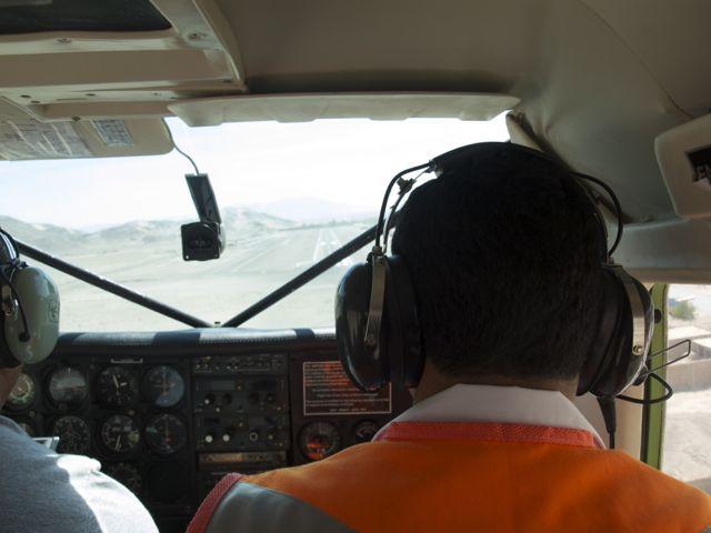 Vliegen over de Nazca lijnen in Peru