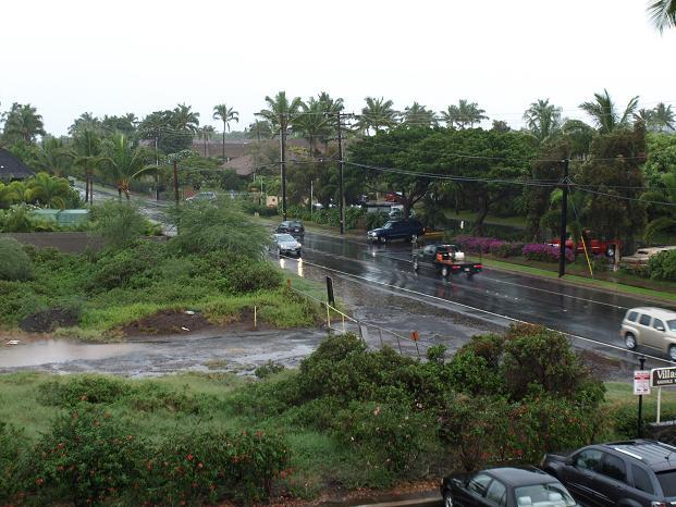 Regen op Maui
