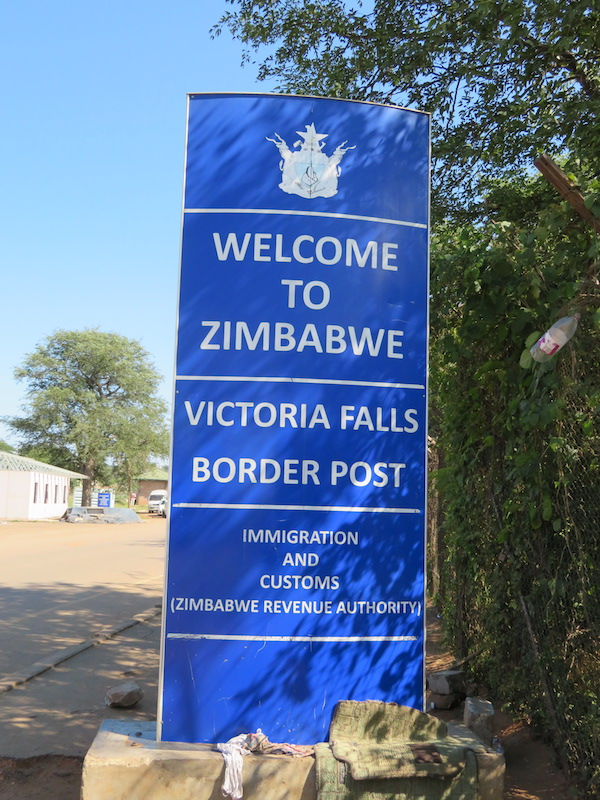 Zimbabwe Border in Africa