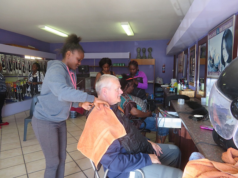 Africa: Getting a haircut in Swakopmund
