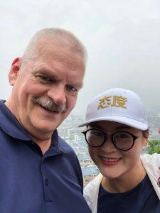 Selfie met een Chinees