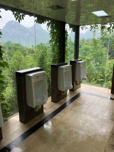 Urinals bij Reed Flute Cave