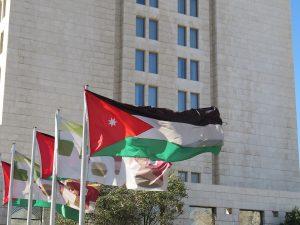 De vlag van Jordanië