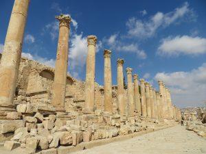 De Cardo Maximus in Jerash, Jordanië