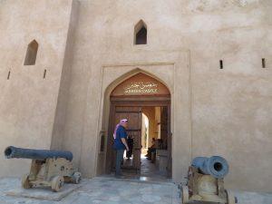 Ingang van Jabrin Castle, Oman