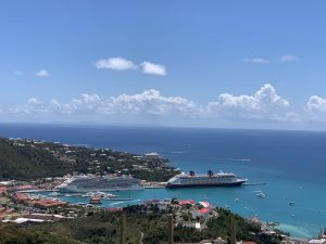 Cruise ship in St. Thomas, US Virgin Islands