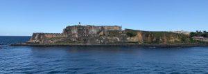Aankomst cruise in Old San Juan