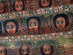 Plafond van Debre Birhan Trinity Church in Ethiopië