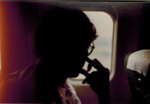 Loek in het vliegtuig